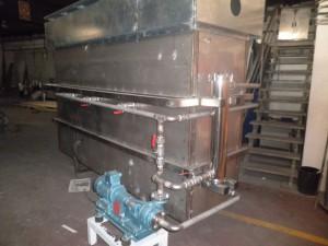 fosfatado en cuba de desengrase tratamientos de superficies metálicas